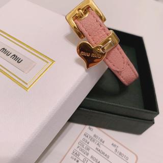 miumiu - miumiu ブレスレット ピンク 正規品