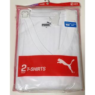 プーマ(PUMA)の新品 PUMA 2枚入り インナー men's 半袖V首シャツ ホワイト(その他)