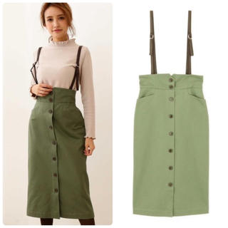 PROPORTION BODY DRESSING - プロポーション サスペンダー付きワークタイトスカート