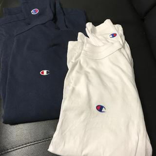Champion - 未使用チャンピオンロングTシャツ白Mサイズ胸袖ロゴタイプ