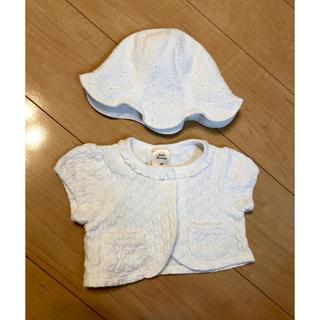 kid's zoo - 帽子と半袖カーディガンセット
