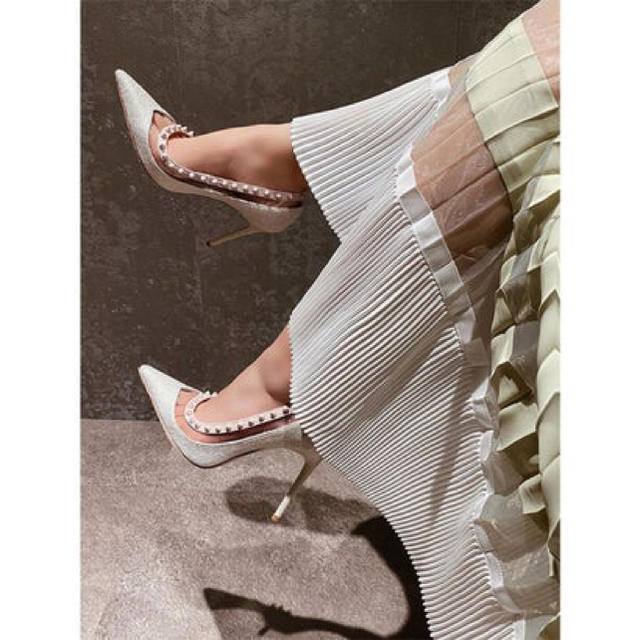 eimy istoire(エイミーイストワール)のeimy♥シアーコンビプリーツスカート レディースのスカート(ロングスカート)の商品写真