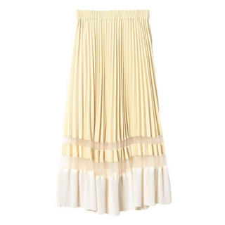 エイミーイストワール(eimy istoire)のeimy♥シアーコンビプリーツスカート(ロングスカート)