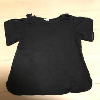 GU - GU 黒リボンTシャツ 140