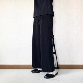 "JOHN LAWRENCE SULLIVAN - layered ""hakama"" trousers"
