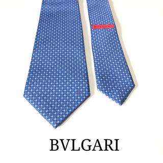 ブルガリ(BVLGARI)の☆極美品 試着程度☆BVLGARI ブルガリ 小紋柄 ネクタイ(ブルー)(ネクタイ)