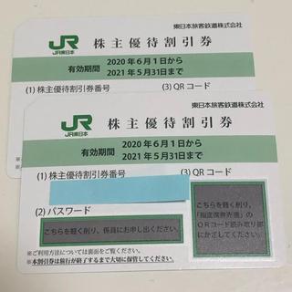 JR - JR東日本 株主優待割引券 2枚
