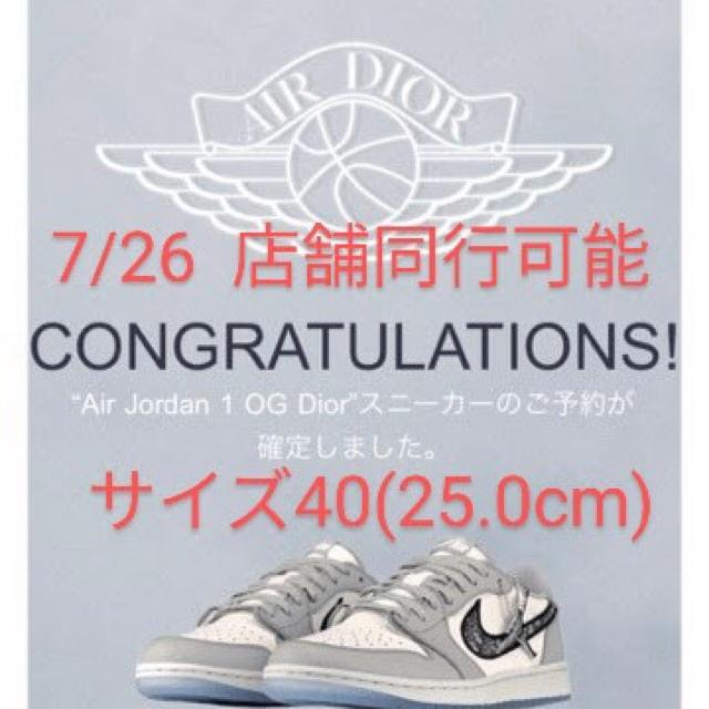 NIKE(ナイキ)のNike Air Jordan 1 OG Dior エア ジョーダン ディオール メンズの靴/シューズ(スニーカー)の商品写真