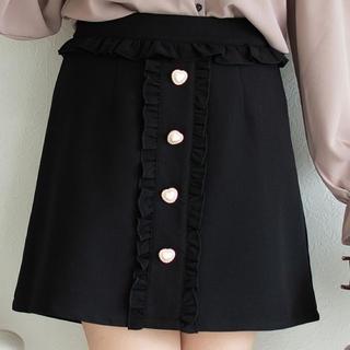 ROJITA - ROJITA ハート釦フリル台形スカート