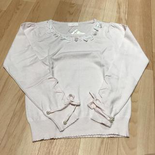 ロディスポット  リボンフラワーニット 袖リボン