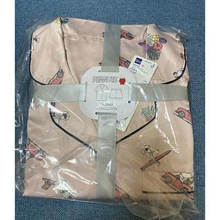 GU - GUサテンパジャマ スヌーピー(半袖ショーパン)