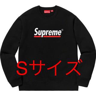 Supreme - Supreme 2020ss Underline Crewneck 黒 Sサイズ