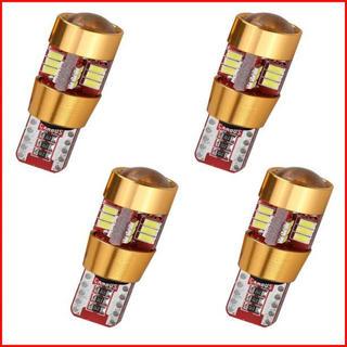 キャンセラー内蔵 27W級 爆光 T10 LED バルブ27連 4個セット