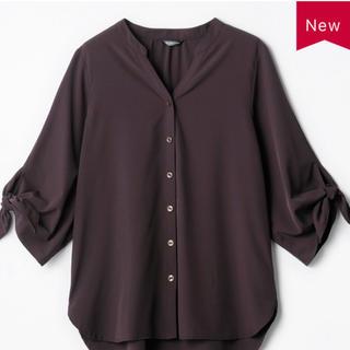 しまむら - しまむら MUMU 袖リボンバンドカラーシャツ M