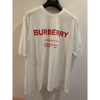 BURBERRY - 新品 バーバリー ロゴ Tシャツ L ホワイト 白 レッド 赤 即完売