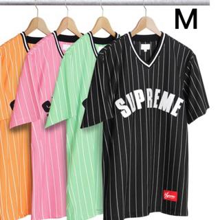 Supreme - supreme Pinstripe Baseball Jersey M