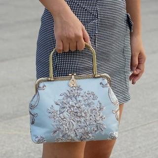 Ameri VINTAGE - ヴィンテージスタイル ♡ ロココ ジャガード ハンドバッグ 鞄 バッグ ロリータ