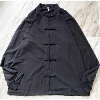 Yohji Yamamoto - dead stock vintage xxxxl オーバーサイズ チャイナシャツ