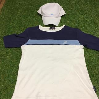 KANGOL - KANGOL CAP Lサイズ&Tシャツ  Mサイズ表記セット