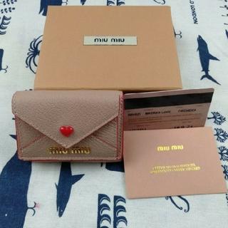 miumiu - ミュウミュウ 財布 三つ折り ミニ財布 マドラスLOVE ミニウォレット ピンク