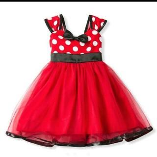 可愛い過ぎる♡ミニーちゃん♡ベビードレス♡ワンピース☆90サイズ(ワンピース)