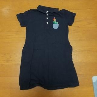 Design Tshirts Store graniph - 110サイズ女の子グラニフはらぺこあおむしポロシャツワンピース