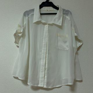 マジェスティックレゴン(MAJESTIC LEGON)の透かしシャツ(シャツ/ブラウス(半袖/袖なし))
