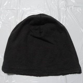 アタッチメント(ATTACHIMENT)の希少 無骨リアル加工 美品◆アタッチメント ニット帽 薄黒◆キャップ 帽子(ニット帽/ビーニー)