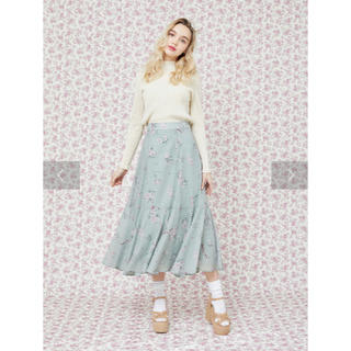 メゾンドフルール(Maison de FLEUR)のフラワープリントマーメードスカート(ロングスカート)