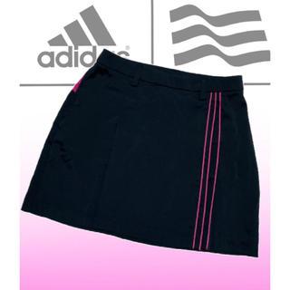 adidas - 美品♡アディダスゴルフ インナーパンツ付  ゴルフスカート  レディース  黒