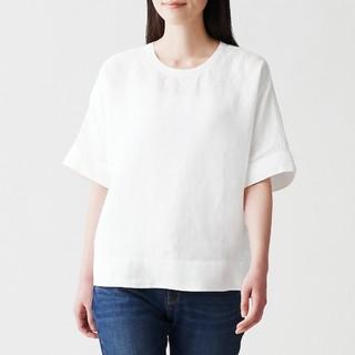 MUJI (無印良品) - 〓新品〓 無印良品 オーガニックリネン 洗いざらし半袖ブラウス/XS~S/白