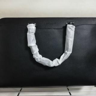 COACH - COACHコーチブリーフケースビジネスバッグハンドレザー皮黒シンプルメンズ紳士