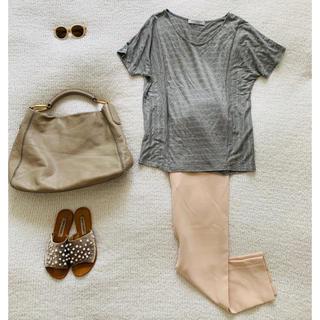 ビューティアンドユースユナイテッドアローズ(BEAUTY&YOUTH UNITED ARROWS)のユナイテッドアローズB&Y♡ラメボーダーTシャツ美品(Tシャツ(半袖/袖なし))