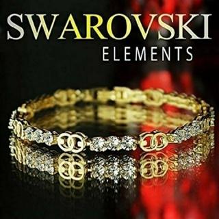 SWAROVSKI - f36🌸パンジー🌸 スワロフスキー エレメンツ ラグジュアリー ブレスレット