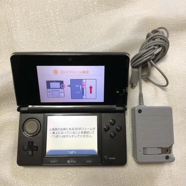 ニンテンドー3DS(ニンテンドー3DS)のニンテンドー 3DS  ブラック DS エンタメ/ホビーのゲームソフト/ゲーム機本体(携帯用ゲーム機本体)の商品写真