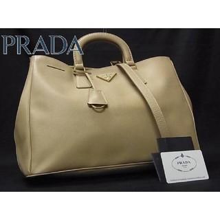 PRADA - 新品並美品 プラダ ロゴ サフィアーノレザー 2WAY ショルダーバッグ