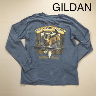 ギルタン(GILDAN)のGILDAN メンズ ロンT 長袖Tシャツ バックプリント(Tシャツ/カットソー(七分/長袖))