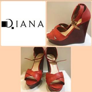 DIANA - ダイアナ レッドレザー サンダル