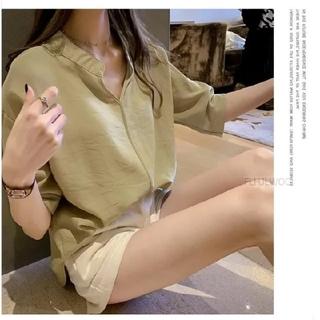 dholic - レディース ノーカラー シャツ トップス 七分袖 新品 未着用 大きいサイズ A
