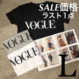 ZARA - レディース  Tシャツ ブラック L ファッション カジュアル 半袖