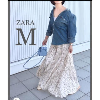 ZARA - 【新品・未使用】ZARA ドット柄 スカート  M