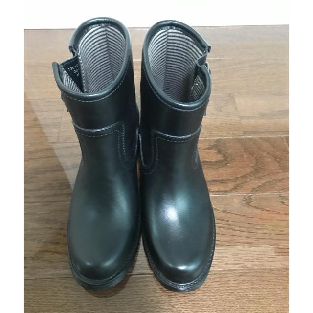 あしながおじさん(アシナガオジサン)のあしながおじさん レインブーツ ブラックMサイズ レディースの靴/シューズ(レインブーツ/長靴)の商品写真