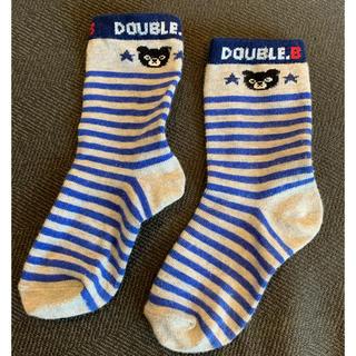 DOUBLE.B - ミキハウス ダブルビー ボーダー靴下 17-19