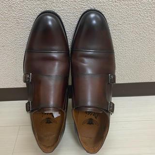 超美品 ビジネスシューズ 紳士靴 メンズ 本革 モンクストラップ 25.5cm