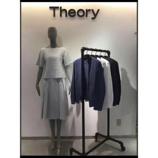 theory - セオリー ★theory★CRUNCHブラウス★アイスブルー