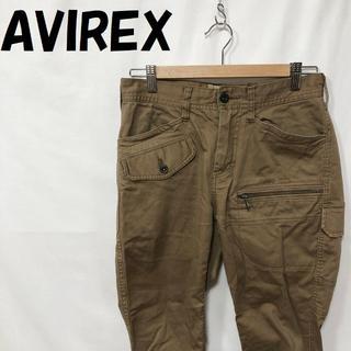 アヴィレックス(AVIREX)の【人気】AVIREX ストレッチ ドビー パンツ ブラウン サイズS メンズ(ワークパンツ/カーゴパンツ)