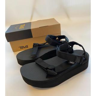 Teva - 【23.0cm】新品Teva flatform サンダル レディース ブラック
