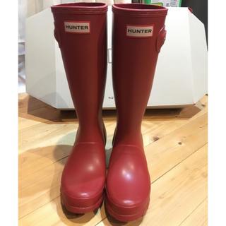 ハンター(HUNTER)のHUNTER レインブーツ 長靴 22センチ UK3 新品 未使用(長靴/レインシューズ)