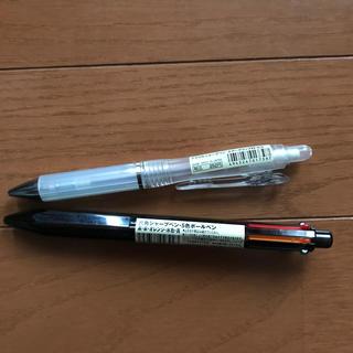 MUJI (無印良品) - MUJI アクリルシャープペン、6角シャープペンボールペン