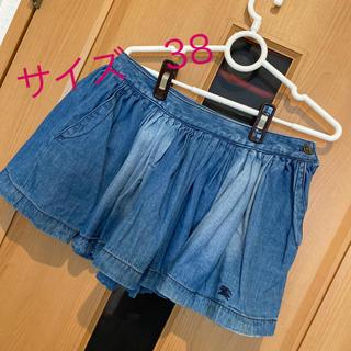 バーバリーブルーレーベル(BURBERRY BLUE LABEL)の♡美品バーバリーブルーレーベル デニムミニスカート 38(ミニスカート)